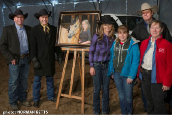 painting of Amber Marshall