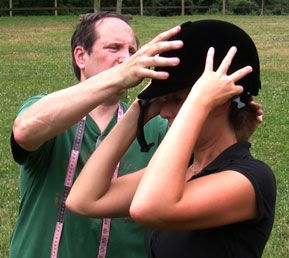 <em>Use Tour Head - Wear a Helmet</em> helmet fitting demonstration