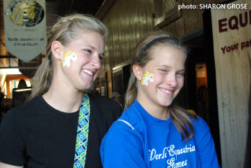 2 Girls with faces painted