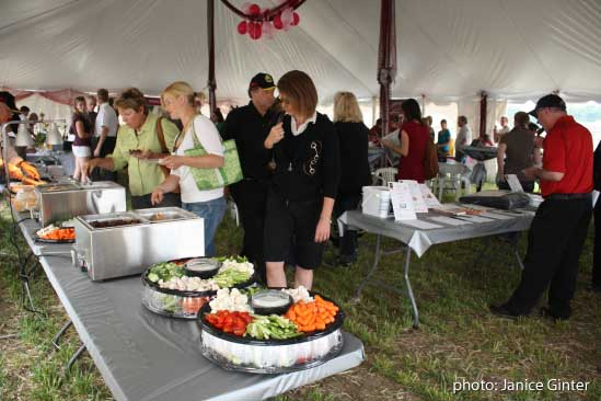 Horse enthusiasts enjoying local food and wine at Equine Guelph's Gala