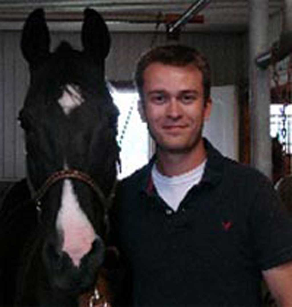 Dr. Kyle Goldie of McKee-Pownall Equine Services