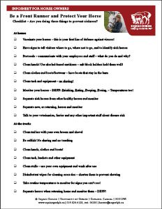 (button) image from Be a Front Runner and Protect Your Horse checklist