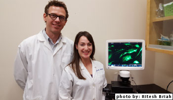(image) Dr. Thomas Koch and Sarah Lepage, PhD candidate