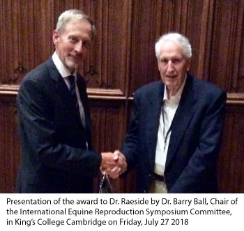 Dr. James Raeside and Dr. Barry Ball