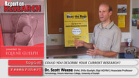 Scott Weese Report on Research Video