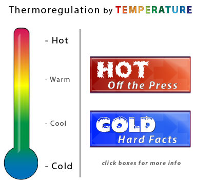 Thermoregulation by Temperature - HOT-COLD graphic